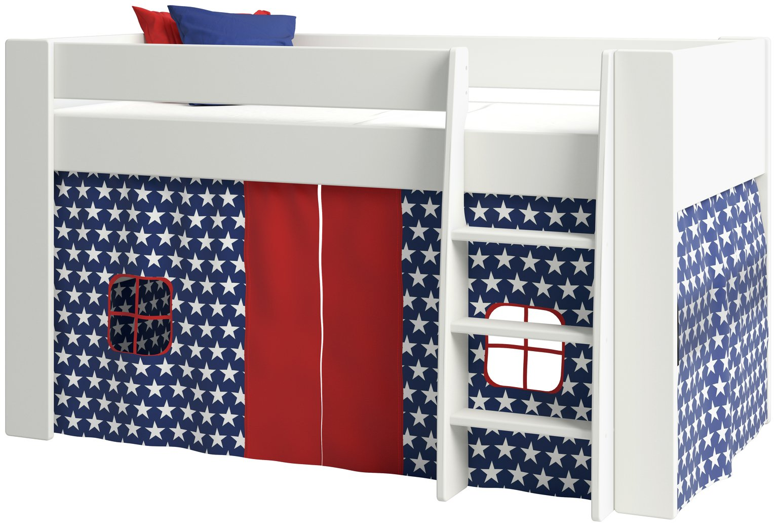 Image of Argos Home Memphis Mid Sleeper and Stars Tent - White