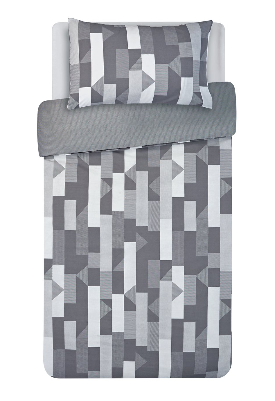 Argos Home Grey Restoration Bedding Set - Single