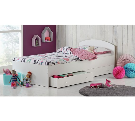 Buy Argos Home Malibu White Single Bed Frame with 2 Drawers ... eb42690f2556