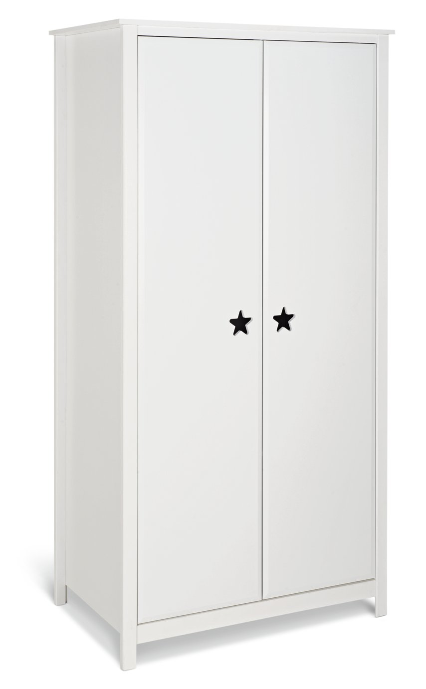 Argos Home Stars White 2 Door Wardrobe