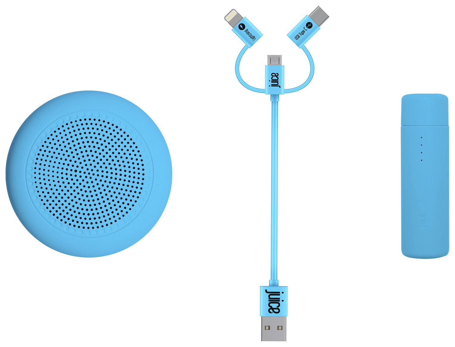 Juice Festival Essential Speaker and Power Bank - Blue