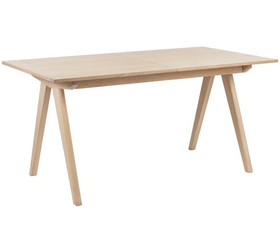 Habitat Jerry Extendable 4 10 Seat Oak Veneer Dining Table