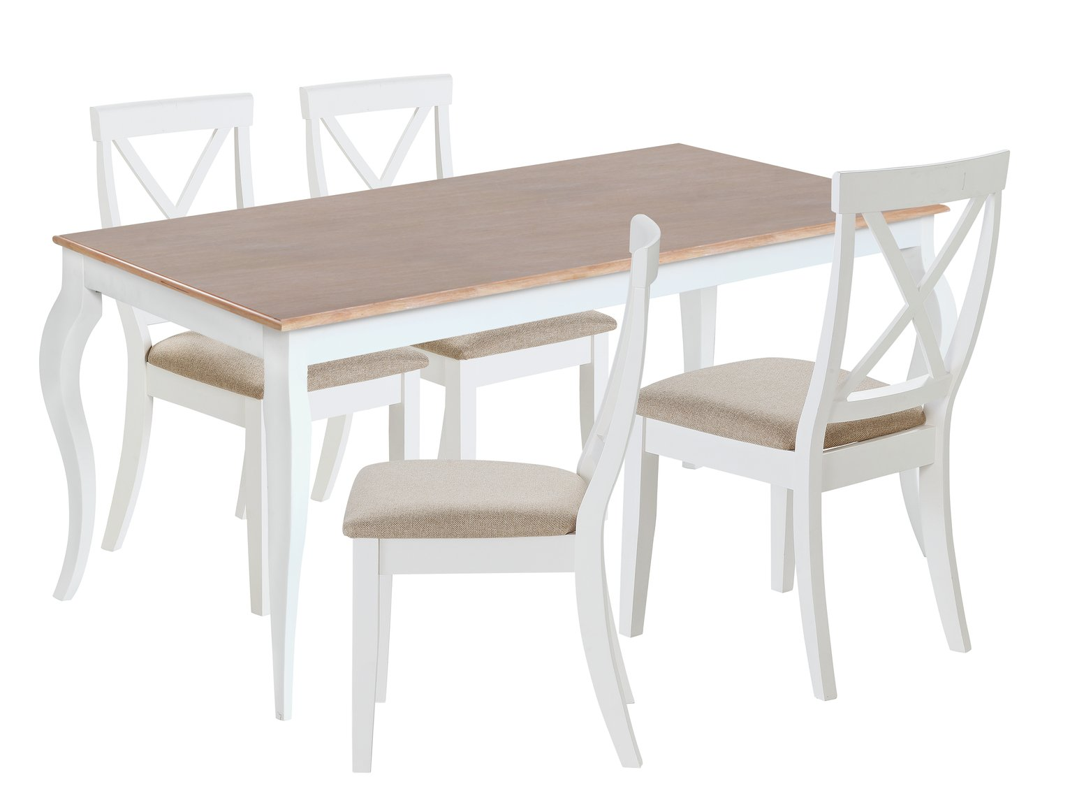 4282bde6165 Argos Home Southwold Oak Veneer Table   4 Chairs - Two Tone