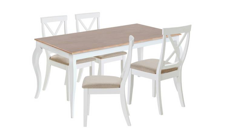 Buy Argos Home Southwold Oak Veneer Table 4 Two Tone Chairs Dining Table And Chair Sets Argos