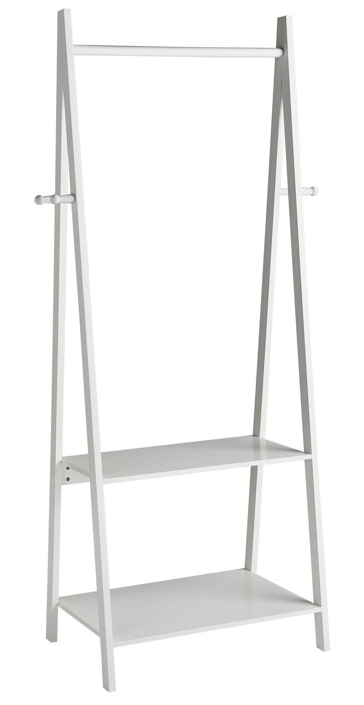 Argos Home Decorative Clothes Rail with 2 Shelves - White
