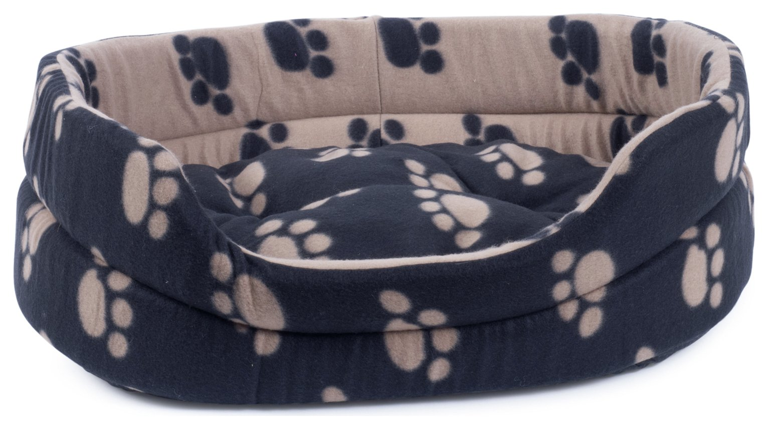 Petface Archie's Small Oval Dog/Puppy Bed - Black