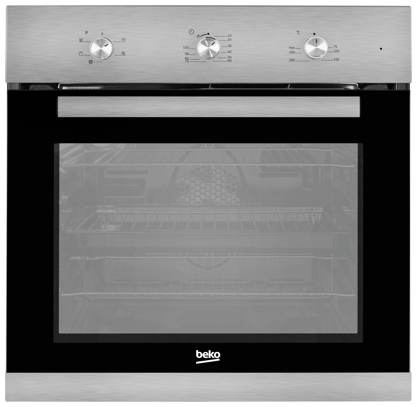 Image of Beko BIF22100X Single Electric Cooker - Stainless Steel