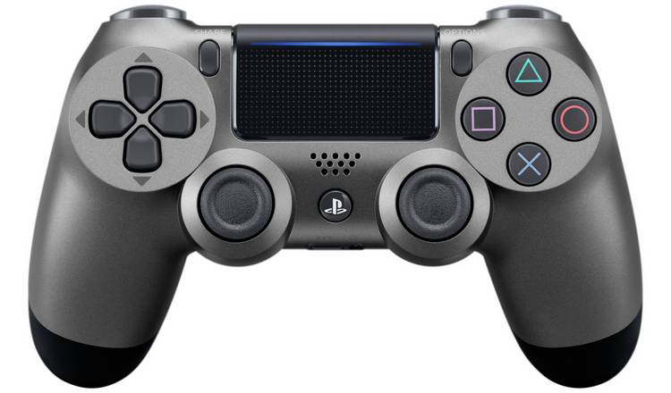 Buy PS4 DualShock 4 V2 Wireless Controller - Steel Black   PS4 controllers  and steering wheels   Argos