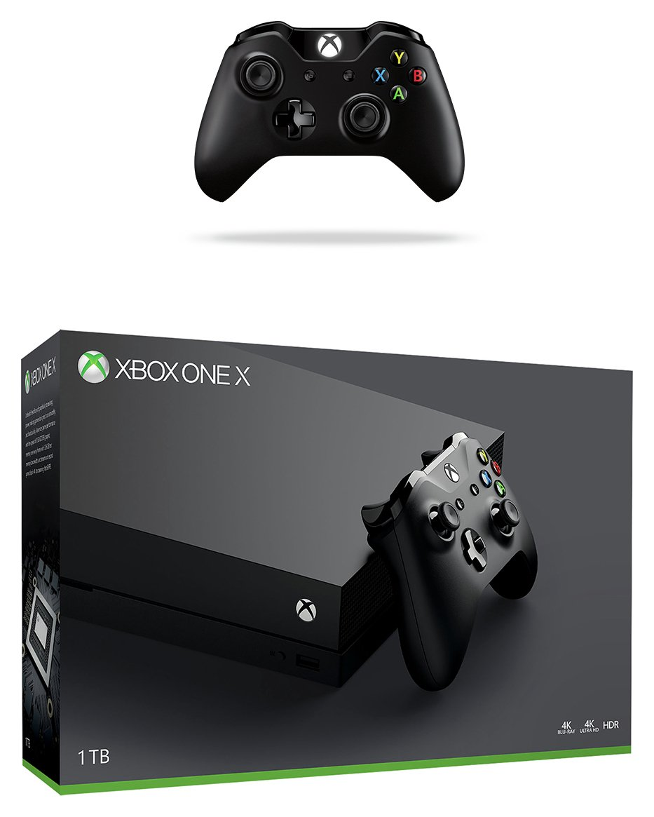 Image of Xbox One X 1TB and 2 Controllers Bundle
