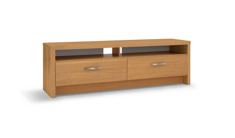 Habitat Venice 2 Drawer Large TV Unit - Oak Effect