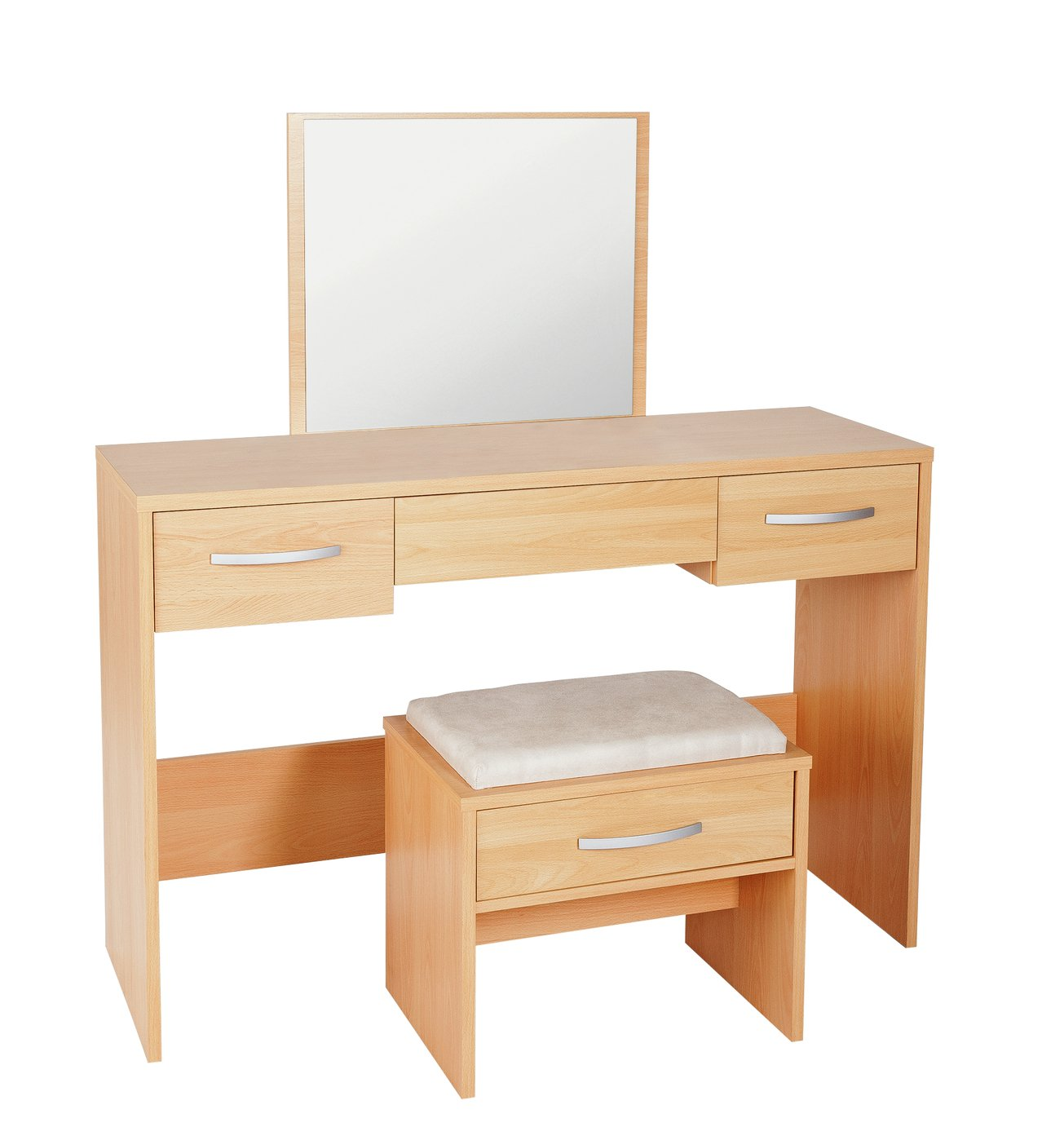 Image of Collection Hallingford Dressing Table - Beech Effect