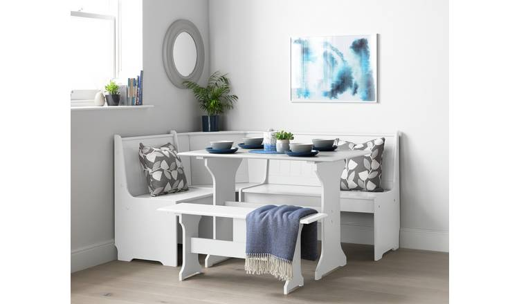 Buy Argos Home Haversham Corner Dining Set Bench White Dining Table And Chair Sets Argos