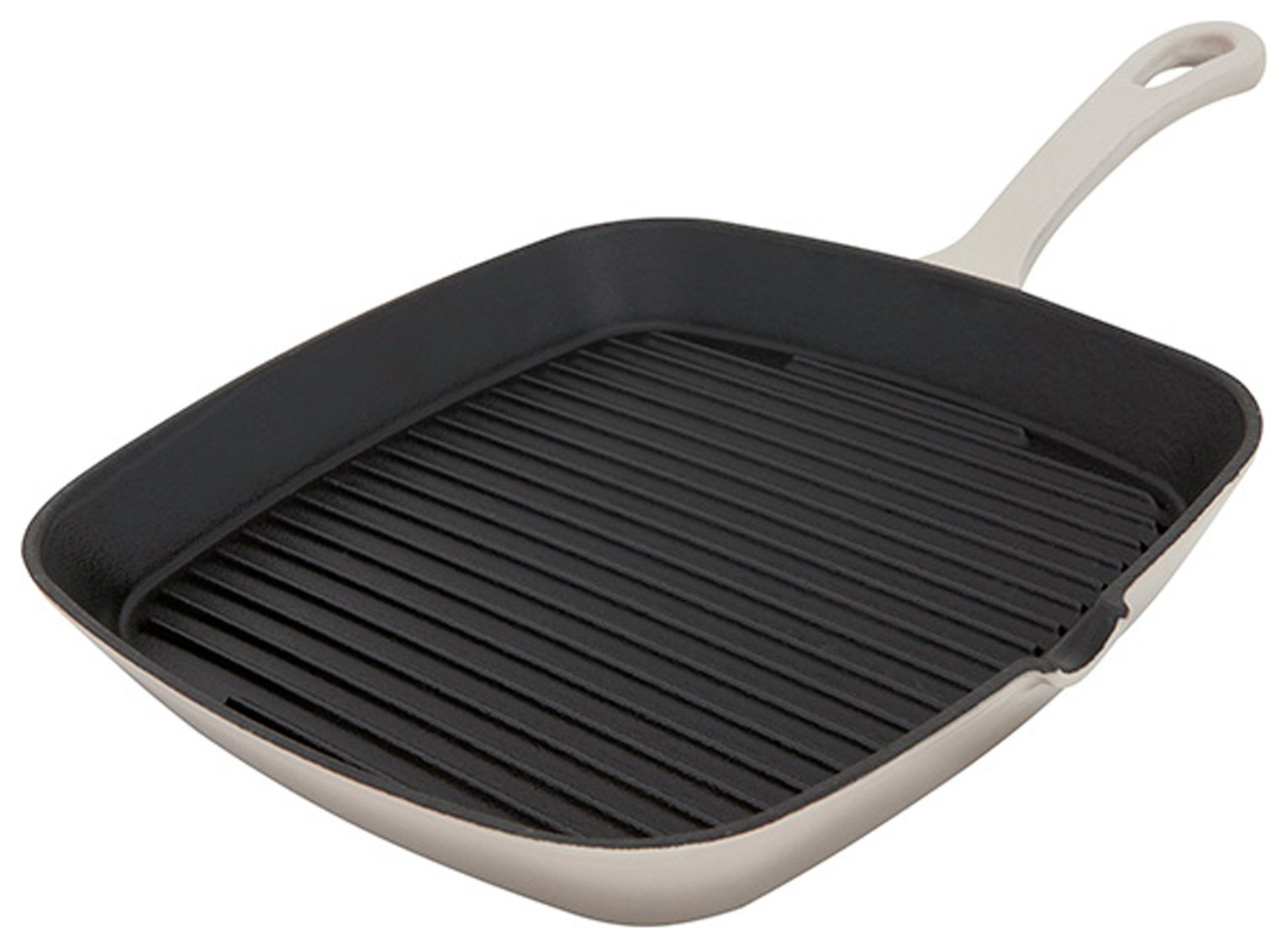 Sainsbury's Home Cast Iron Griddle Pan - Mushroom