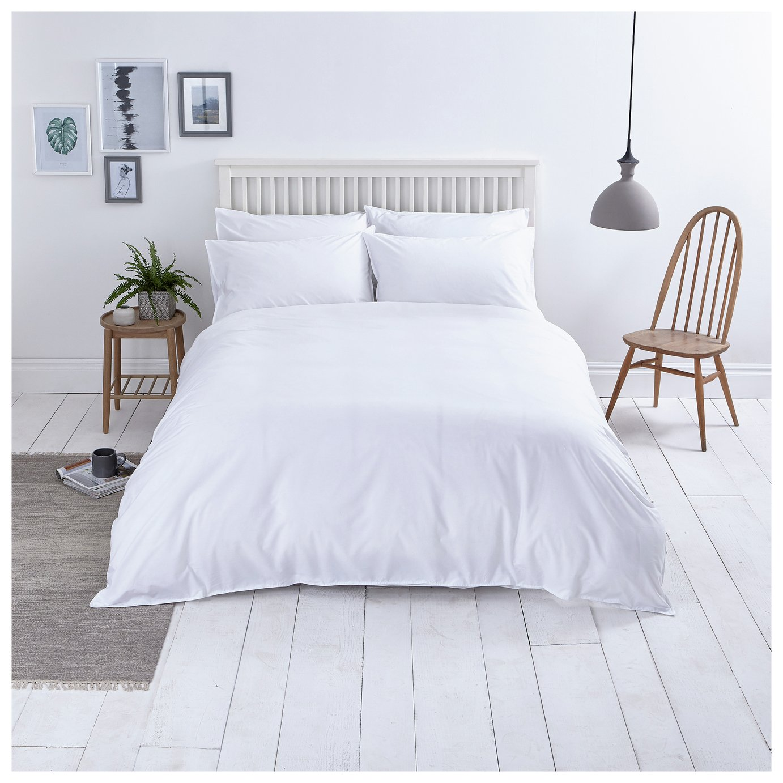 Buy Sainsburys Home Washed Cotton White Bedding Set Double