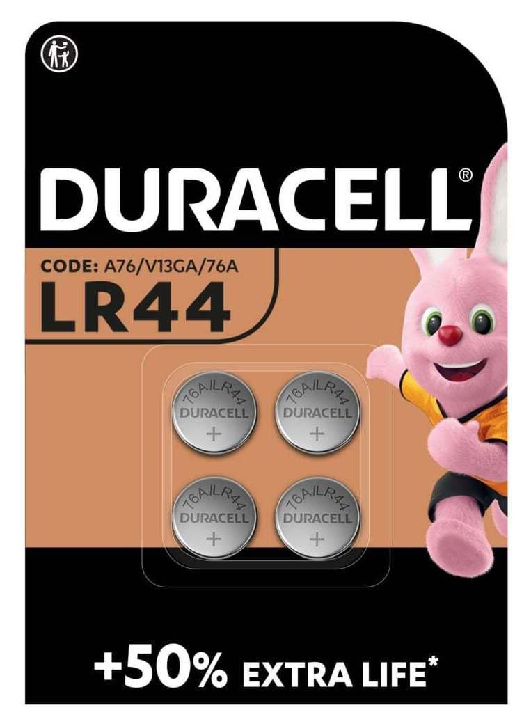 Image of Duracell Specialty LR44 Alkaline Batteries - 4 Pack