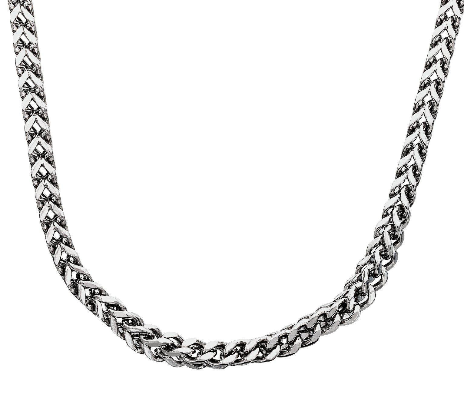 Revere Men's Stainless Steel Box Curb Chain