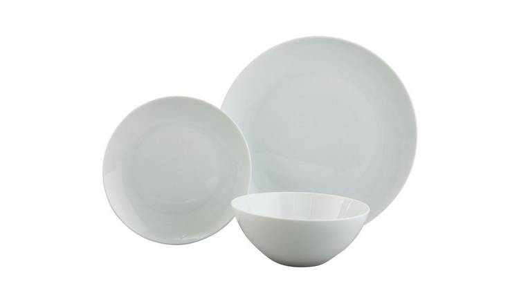 Argos Home Coupe Porcelain 12 Piece Dinner Set - Super White