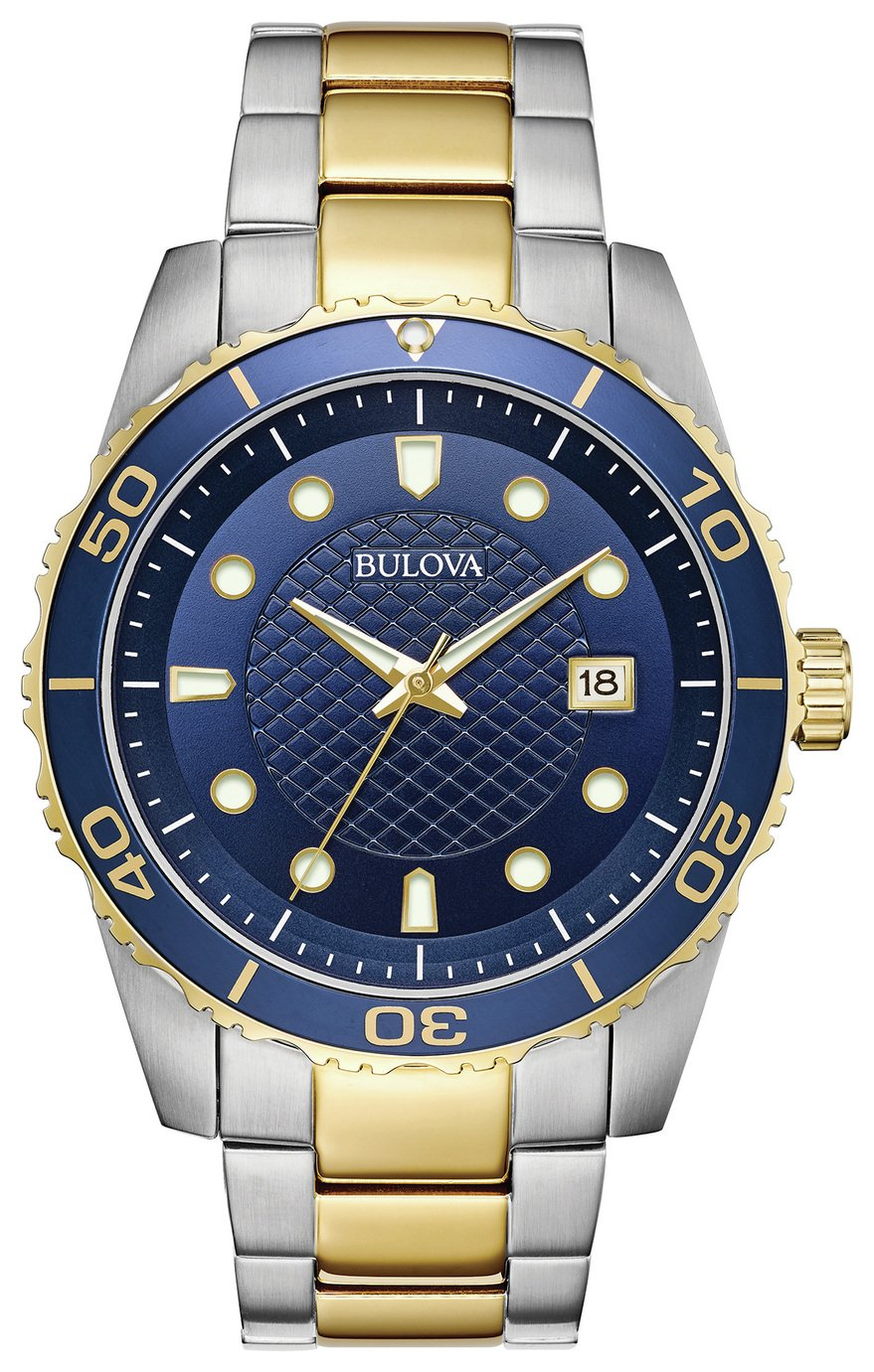 Image of Bulova Men's 98A200 Two Tone Sports Bracelet Watch