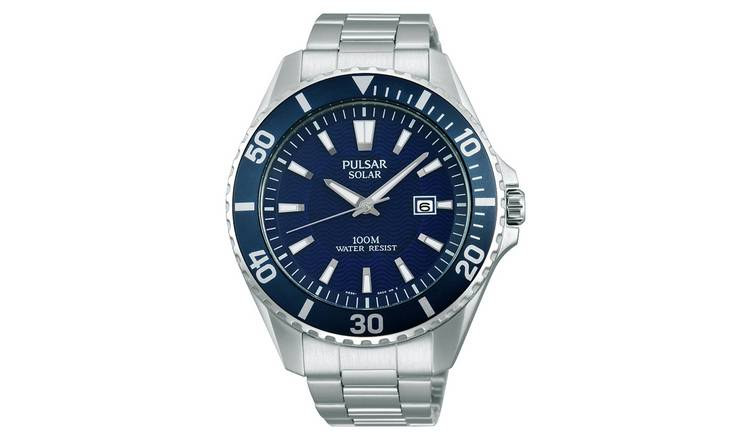 f1abe868c Pulsar Men's Diver Style Silver Stainless Steel Strap Watch808/5364