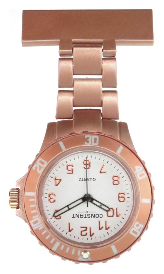 Constant Nurses' Rose Coloured Fob Sports Style Watch