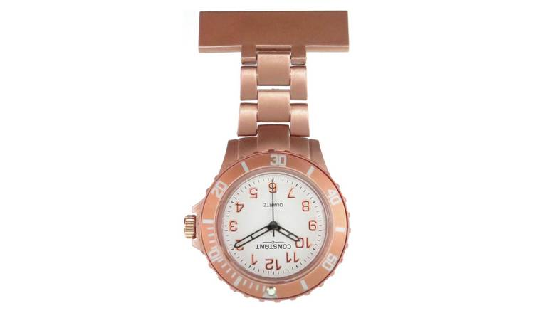 Buy Constant Nurses' Rose Coloured Fob Sports Style Watch | Womens watches | Argos