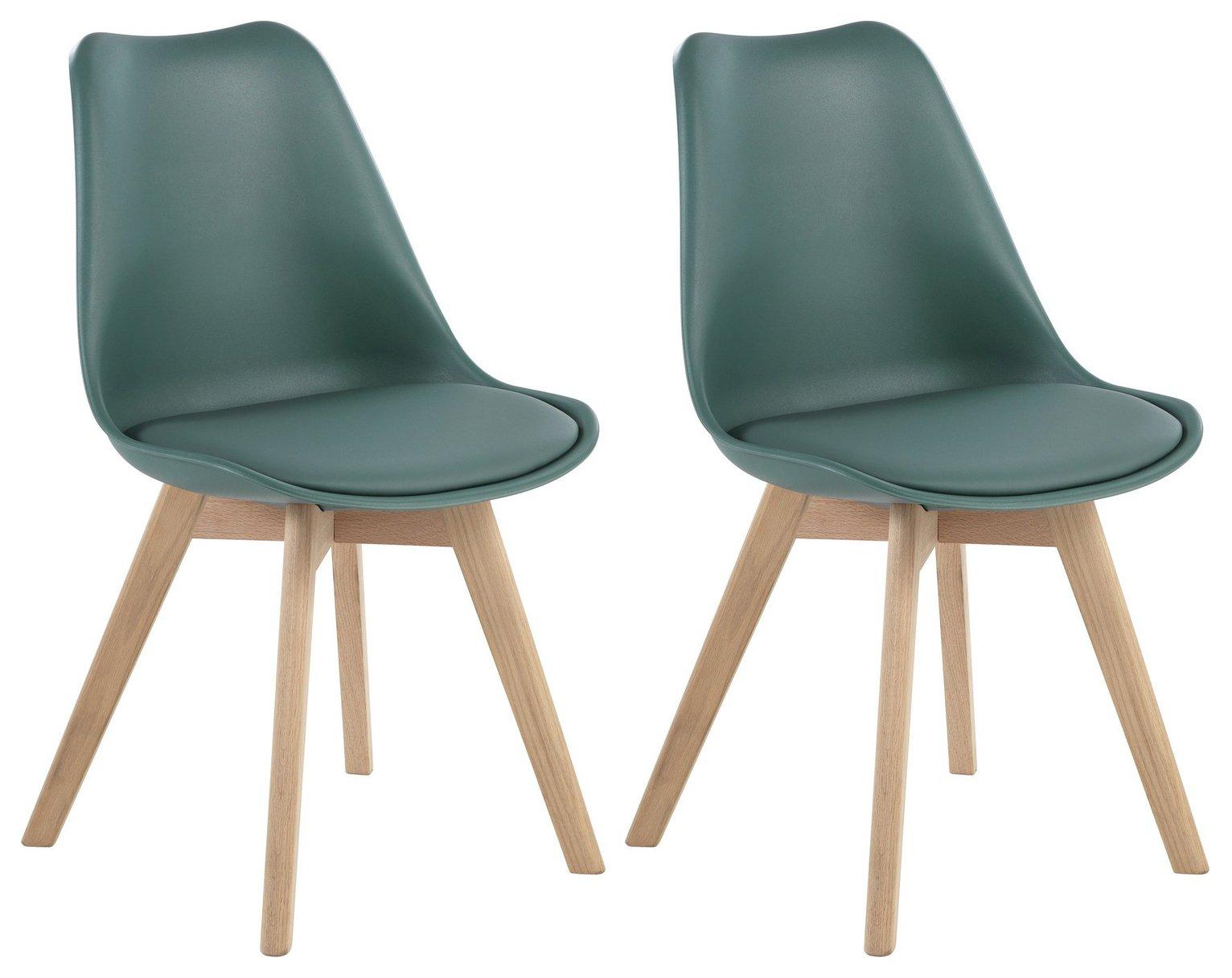 Habitat Jerry Pair of Dining Chairs - Dark Green  sc 1 st  Argos & Buy Habitat Jerry Pair of Dining Chairs - Dark Green   Dining chairs ...