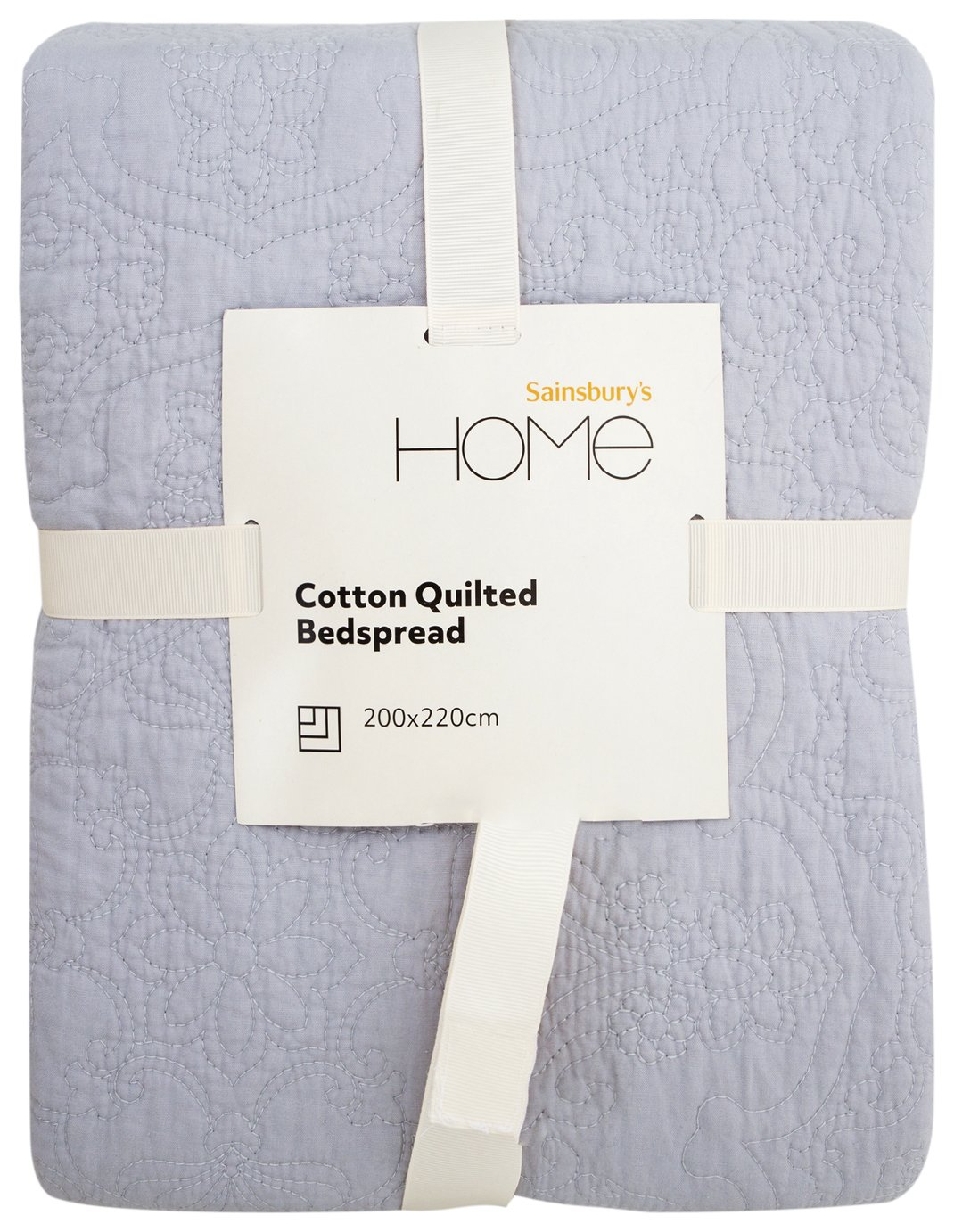 Sainsbury's Home Parisian Maison Quilted Bedspread - Grey