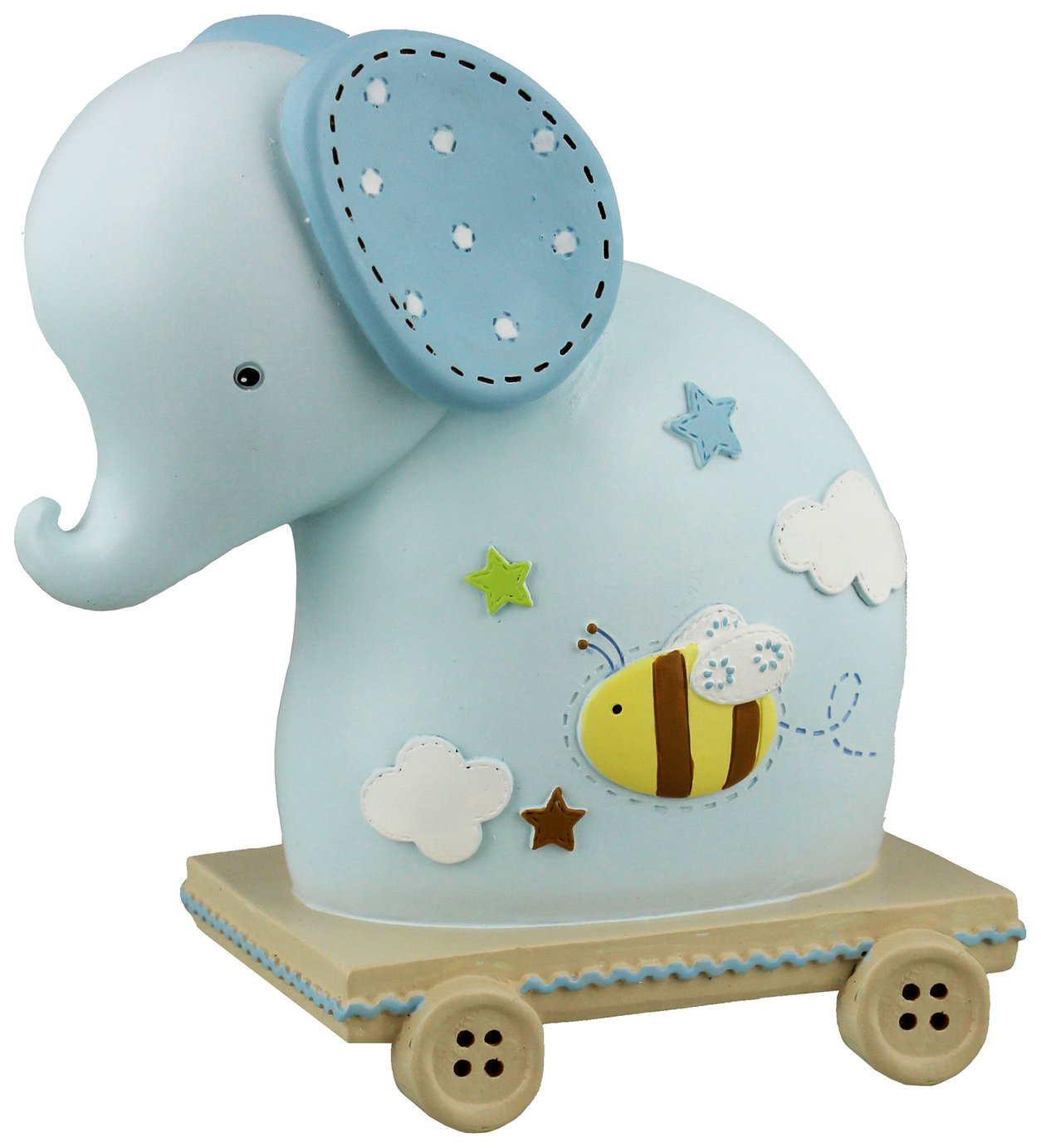 Petit Cheri Blue Elephant Money Box