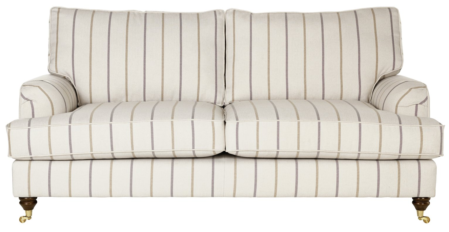 Image of Heart of House Abberton 3 Seater Sofa - Natural Stripe