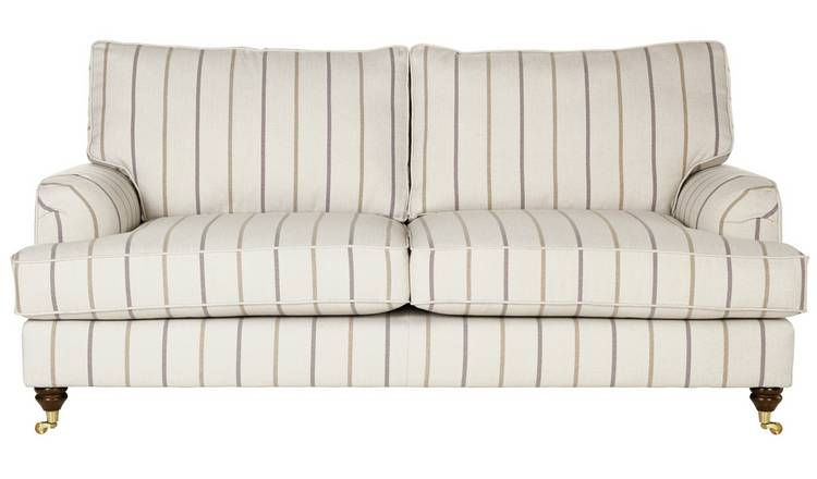 Swell Buy Argos Home Abberton 3 Seater Fabric Sofa Natural Stripe Sofas Argos Download Free Architecture Designs Crovemadebymaigaardcom
