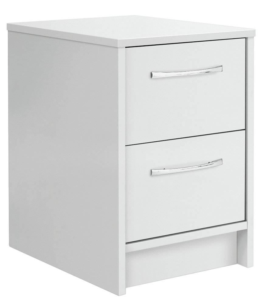 Image of Argos Home Tilbury 2 Drawer Bedside Chest - White