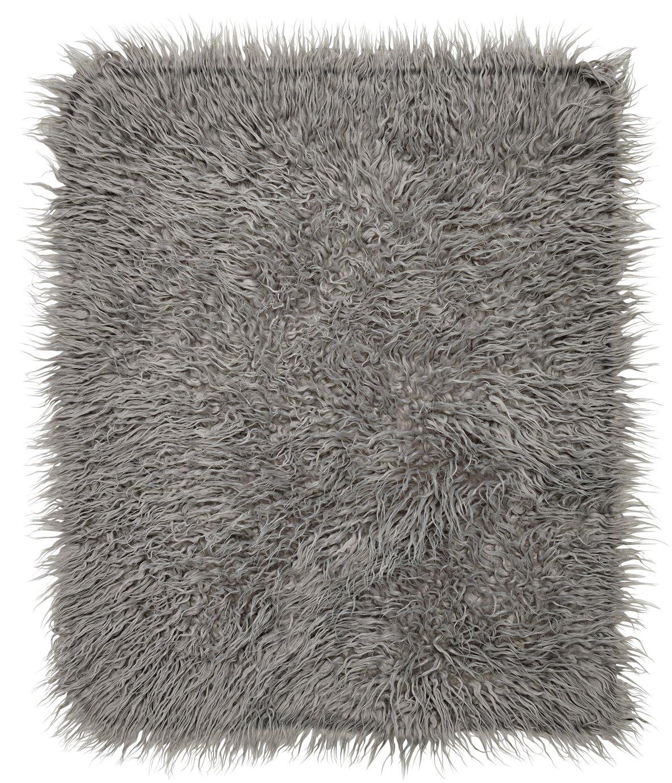 HOME Faux Flokati Rug - 100x75cm - Dove Grey