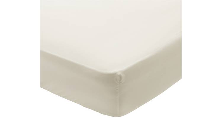 Argos Home 400TC Egyptian Cotton 30cm Fitted Sheet - Single