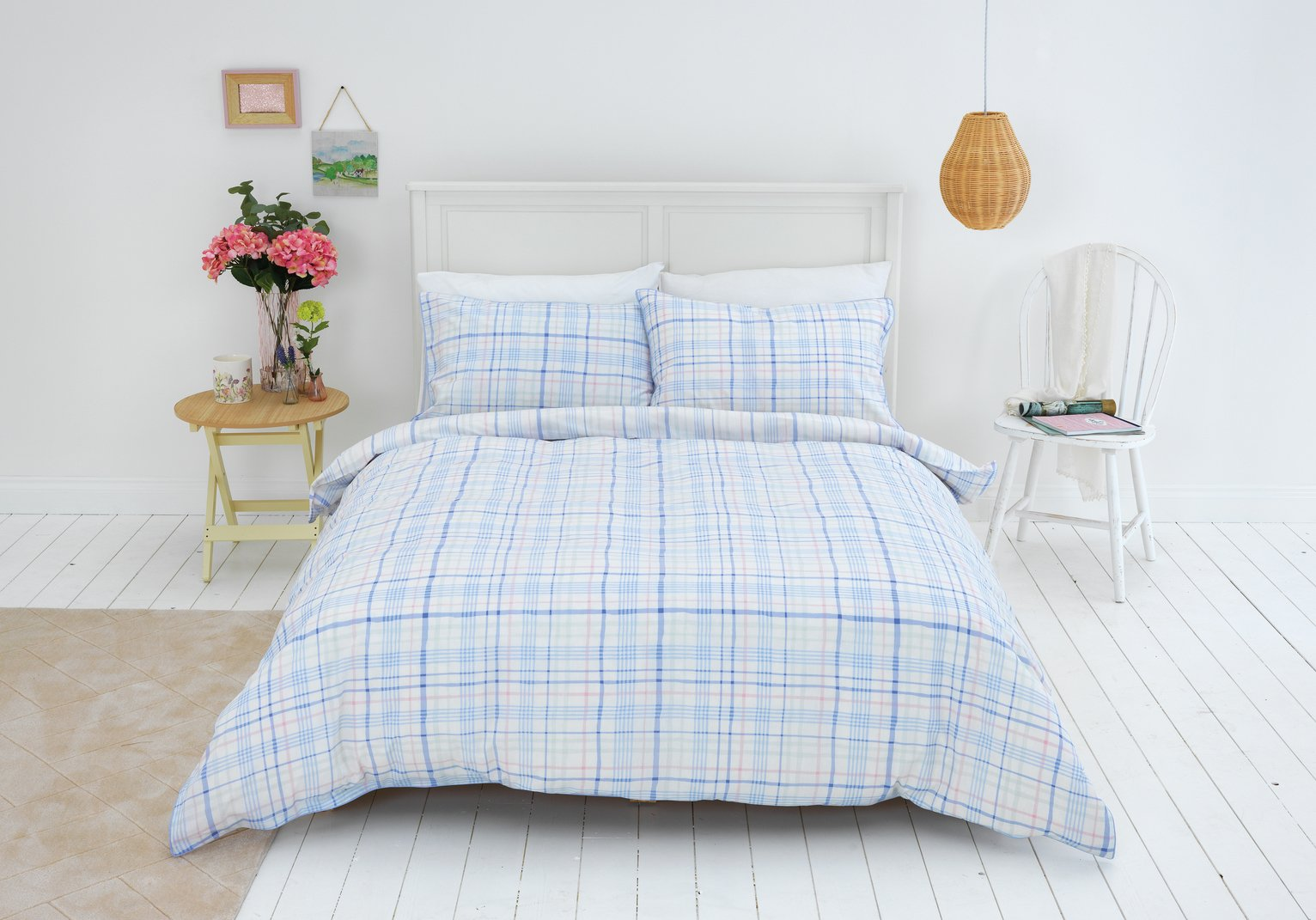 Sainsbury's Home Meadow Check Bedding Set - Single