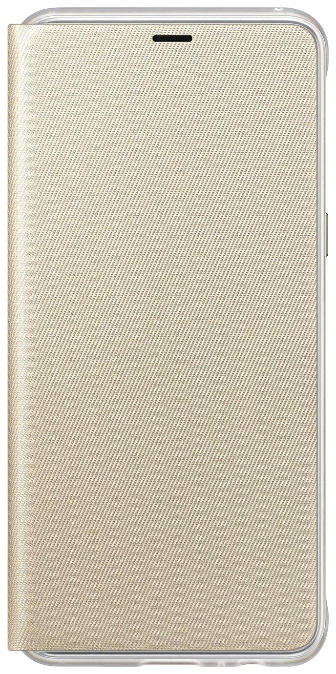 Samsung A8 Neon Flip Wallet Mobile Phone Case - Gold