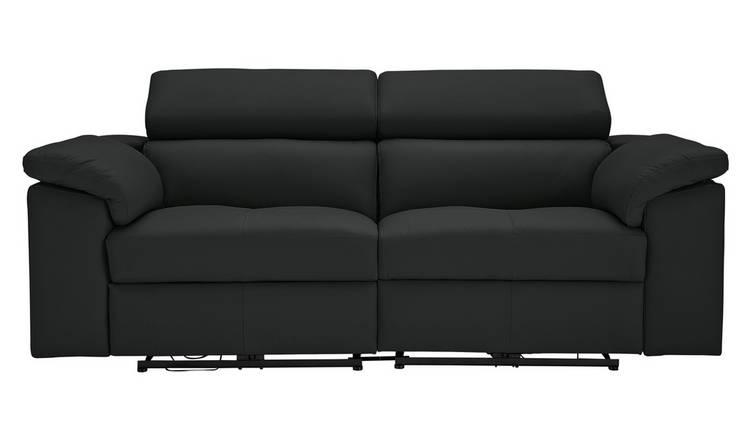 Buy Argos Home Valencia 3 Seater Leather Recliner Sofa Black