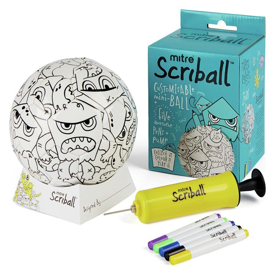 Mitre Zoids Scriball Colouring Football