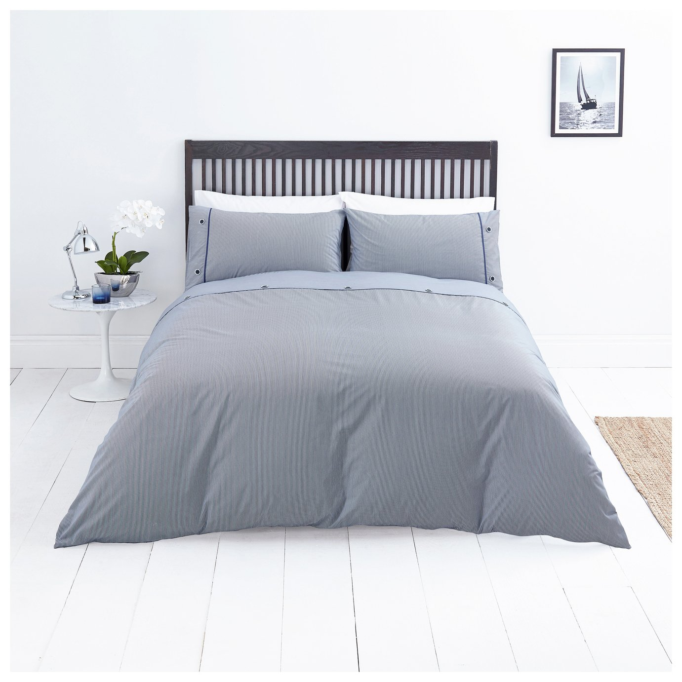 Sainsbury's Home Riviera Stripe Bedding Set - Single