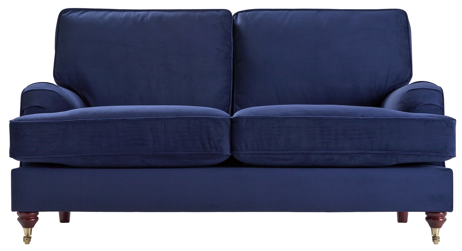 Image of Heart of House Abberton 2 Seater Fabric Sofa - Navy Velvet