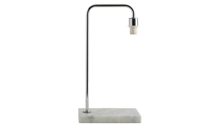 Habitat Marbelle Table Lamp with Chrome Base