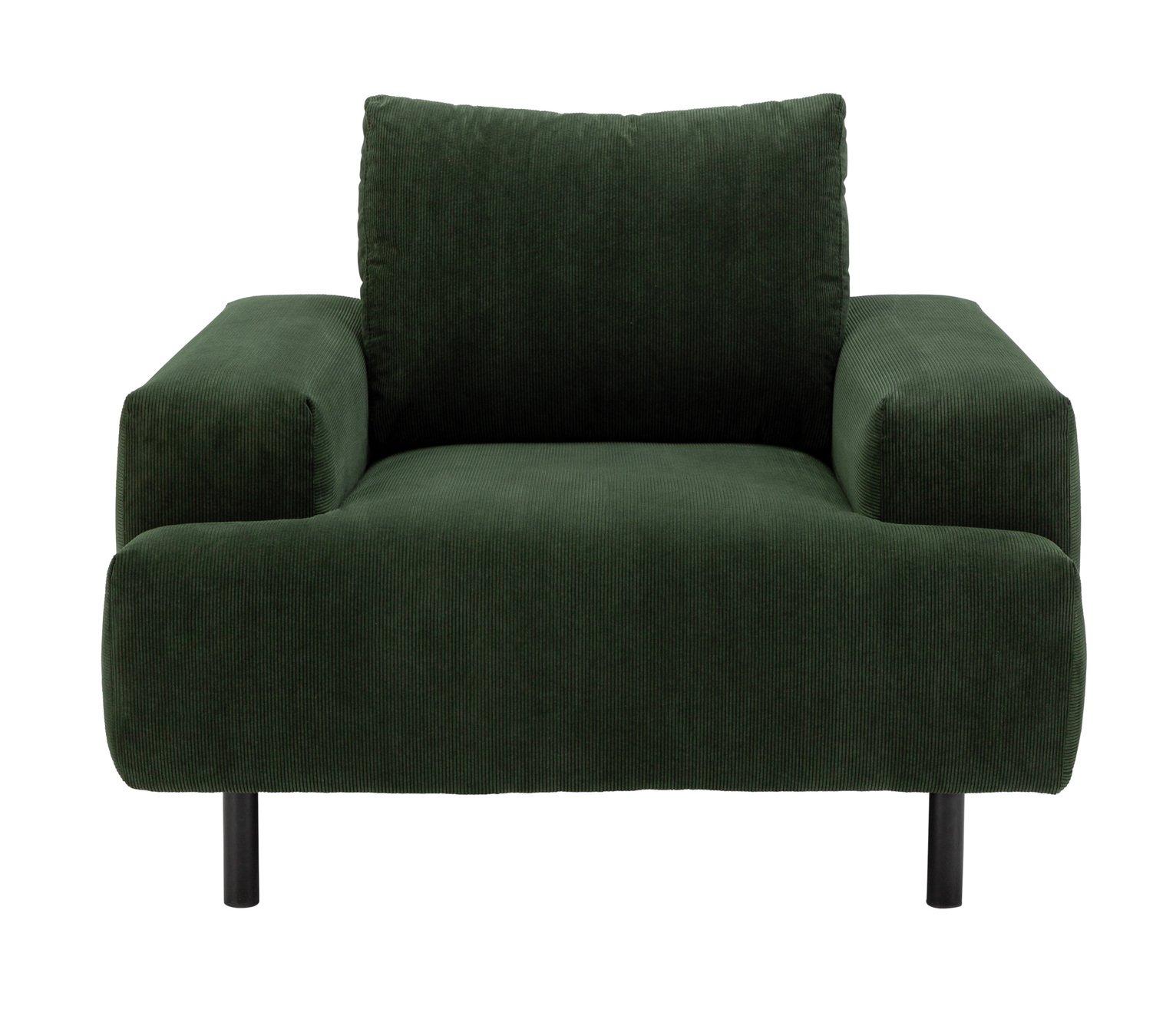 Habitat Julien Fabric Armchair - Green