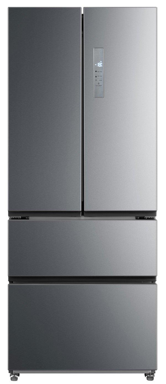 New World MDE70X American Fridge Freezer - Stainless Steel