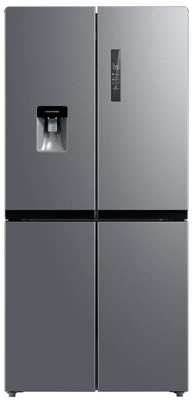 New World MDE4WTDX American Fridge Freezer - Stainless Steel