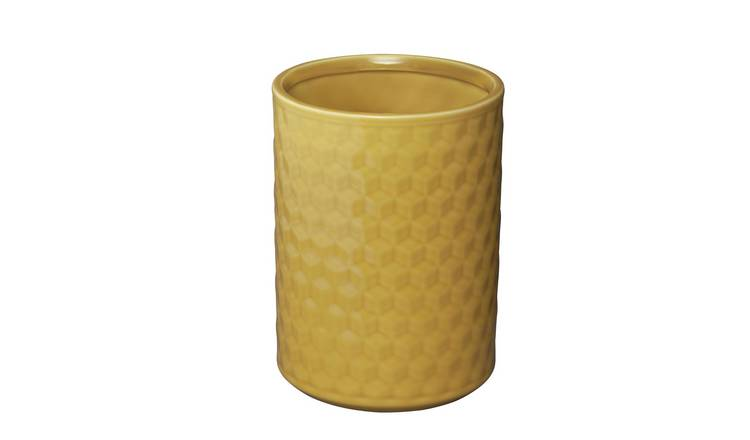 Argos Home Loft Living Utensil Pot - Mustard Yellow