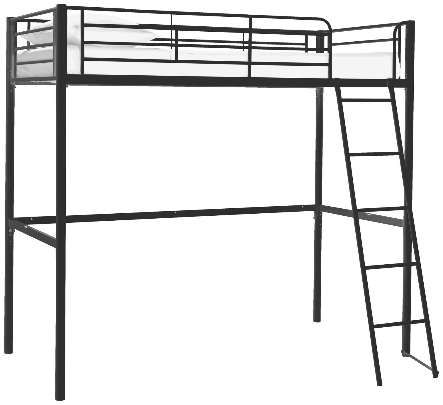 Argos Home Riley Black High Sleeper Bed Frame