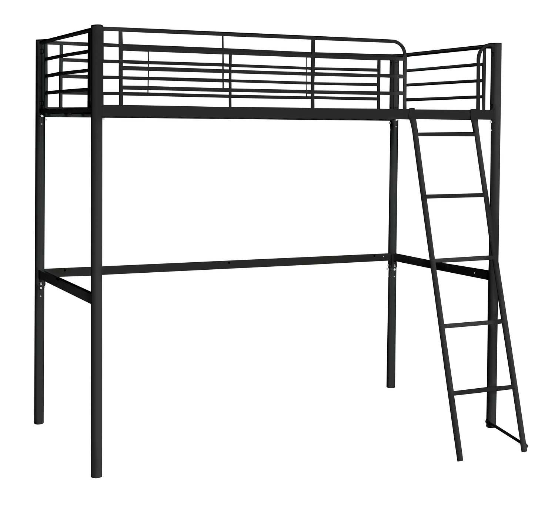 'Home Metal High Sleeper Bed Frame - Black