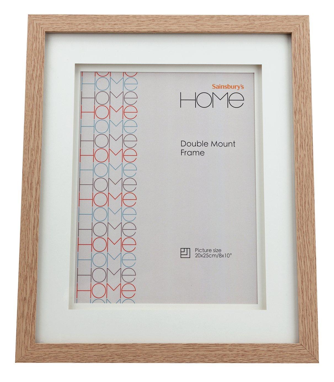 8x10 Double Mount Frame - Oak Effect