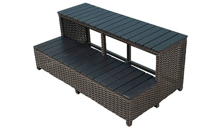 Canadian Spa Company Wicker Spa Steps 86 inch