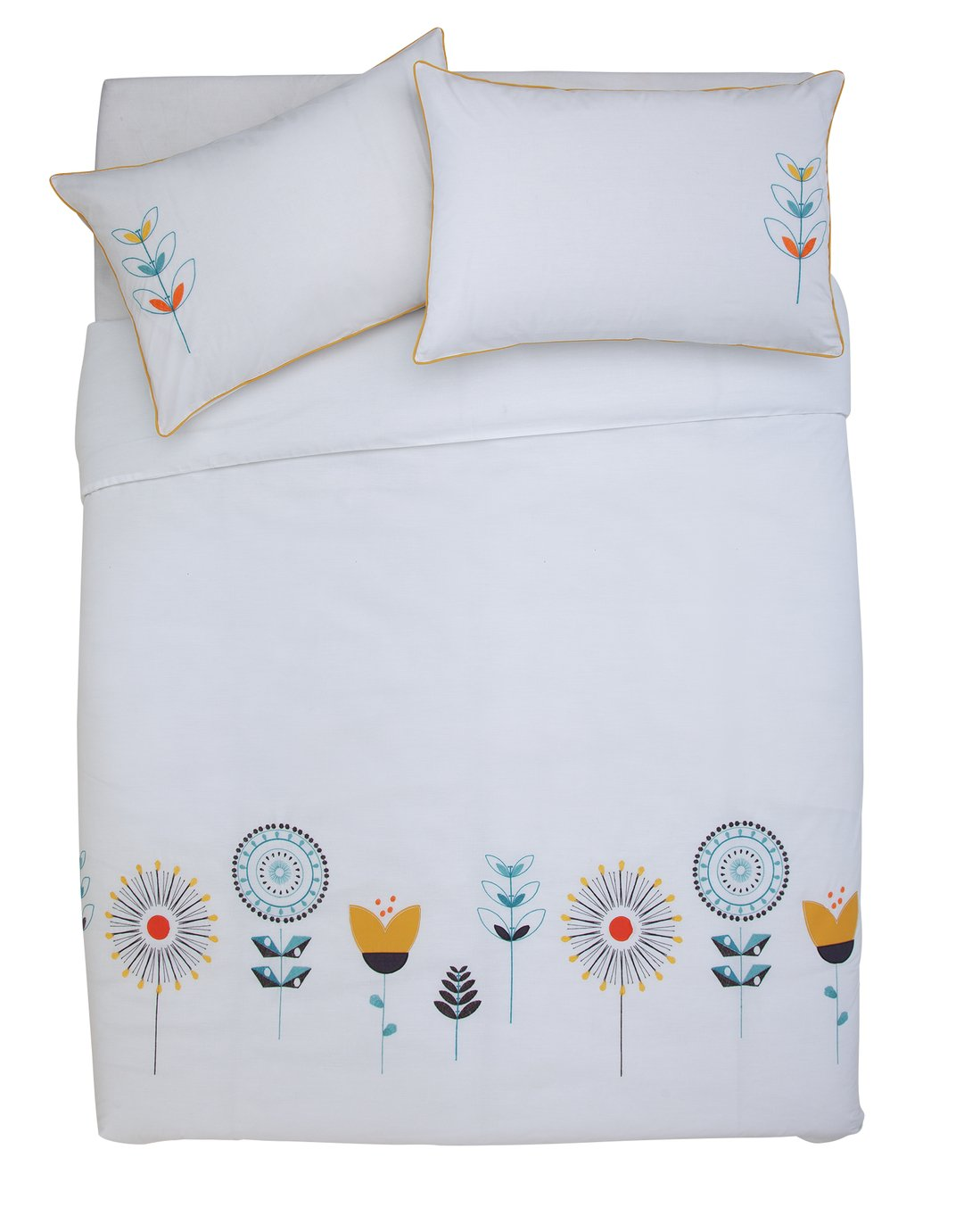 Argos Home Retro Embroidery Bedding Set - Kingsize