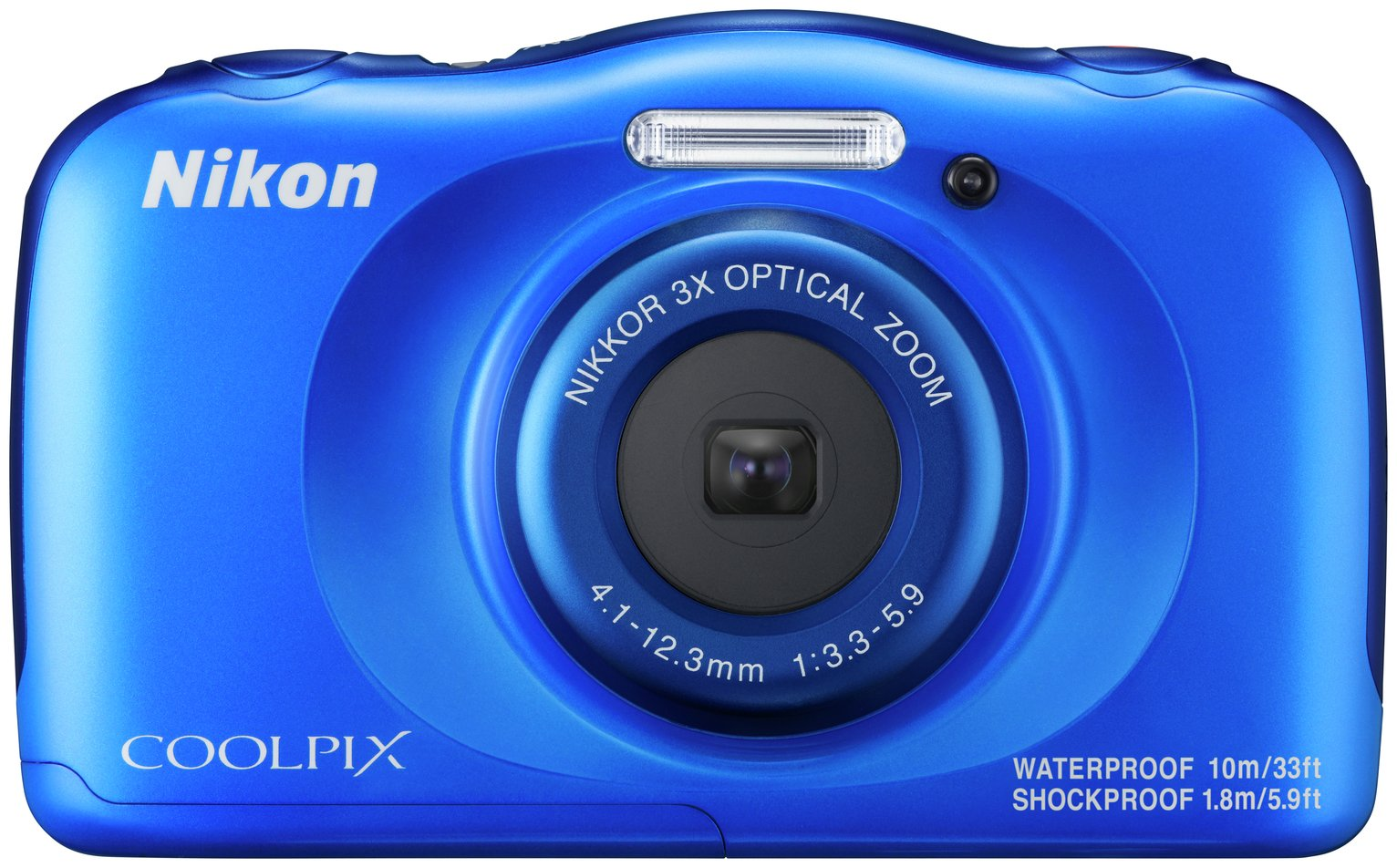 Nikon Coolpix W100 13.2MP 3x Zoom Compact Camera - Blue
